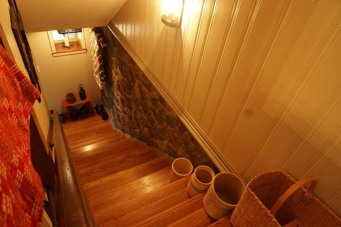 Custom interior stonework and paneling