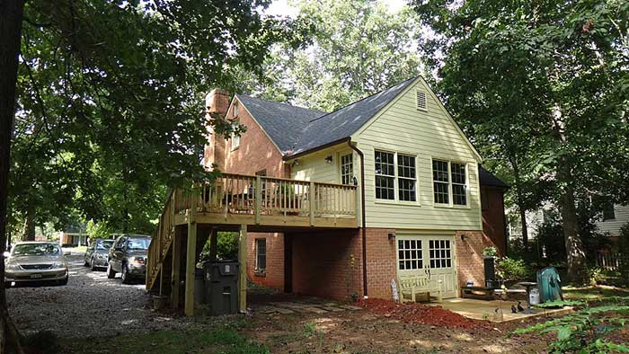 Outside view of Forest, VA family room addition