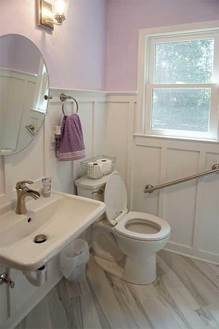 Accessible bathroom remodel design