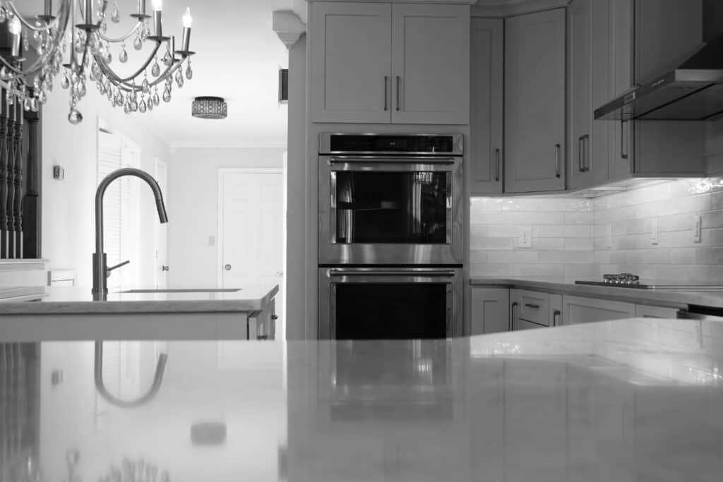 Lynchburg Kitchen Remodel Countertop in black and white