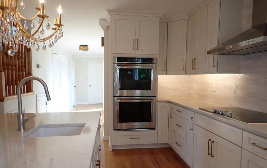 Lynchburg Kitchen Remodel with new cooktop hood and double oven