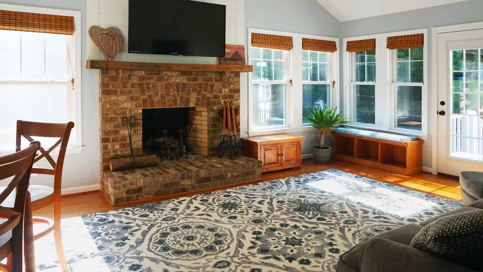 Family room addition built by Milton Construction Company