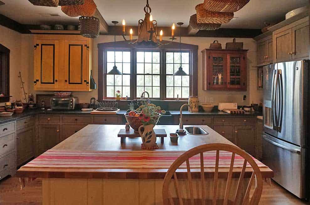 Kitchen with old farmhouse design, Appomattox, VA