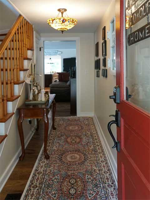 Appomattox home renovation finished foyer in Phenix